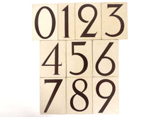 UpperDutch:Numbers,ONE Antique eight, wooden Number 8, Authentic Hand painted Number eight. Room number / Table number, brown lucky number.