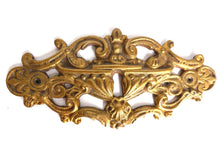 UpperDutch:Hooks and Hardware,Keyhole Cover, Large Antique Ornate Stamped  Keyhole Cover, Escutcheon, Floral Brass Keyhole frame, Furniture Applique.