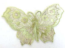 UpperDutch:Sewing Supplies,Applique, butterfly 1930s vintage embroidered applique. Vintage patch, sewing supply.
