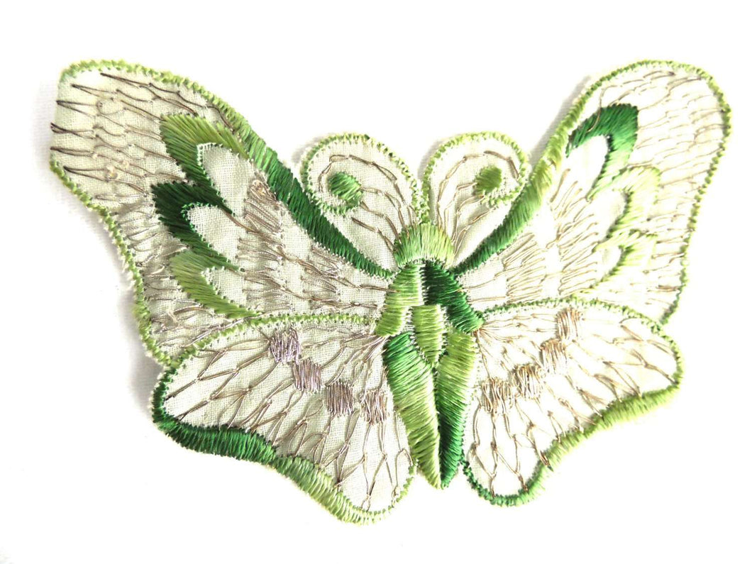 UpperDutch:Sewing Supplies,Butterfly applique, 1930s vintage embroidered applique. Vintage patch, sewing supply. Applique, Crazy quilt.