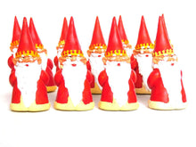 UpperDutch:,ONE King Gnome figurine, after a design by Rien Poortvliet, Brb Gnome, David the Gnome. Wearing a crown and cloak.