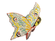 UpperDutch:Sewing Supplies,Authentic Antique Collectible Butterfly applique, 1930s  embroidered applique. Vintage patch, Applique, Crazy quilt.