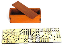 UpperDutch:Home and Decor,Domino. Antique Domino Set - Complete Set of 28 pieces Antique European dominoes. Ebony and Bone. Antique domino game. Patina