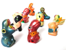 UpperDutch:Home and Decor,Sharpeners, Set of 9 Antique Collectibles Clay Sharpeners, Pencil sharpener, Different Animals.