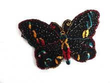 UpperDutch:Sewing Supplies,Antique Butterfly applique, 1930s vintage embroidered applique. Vintage patch, sewing supply. Applique, Crazy quilt.