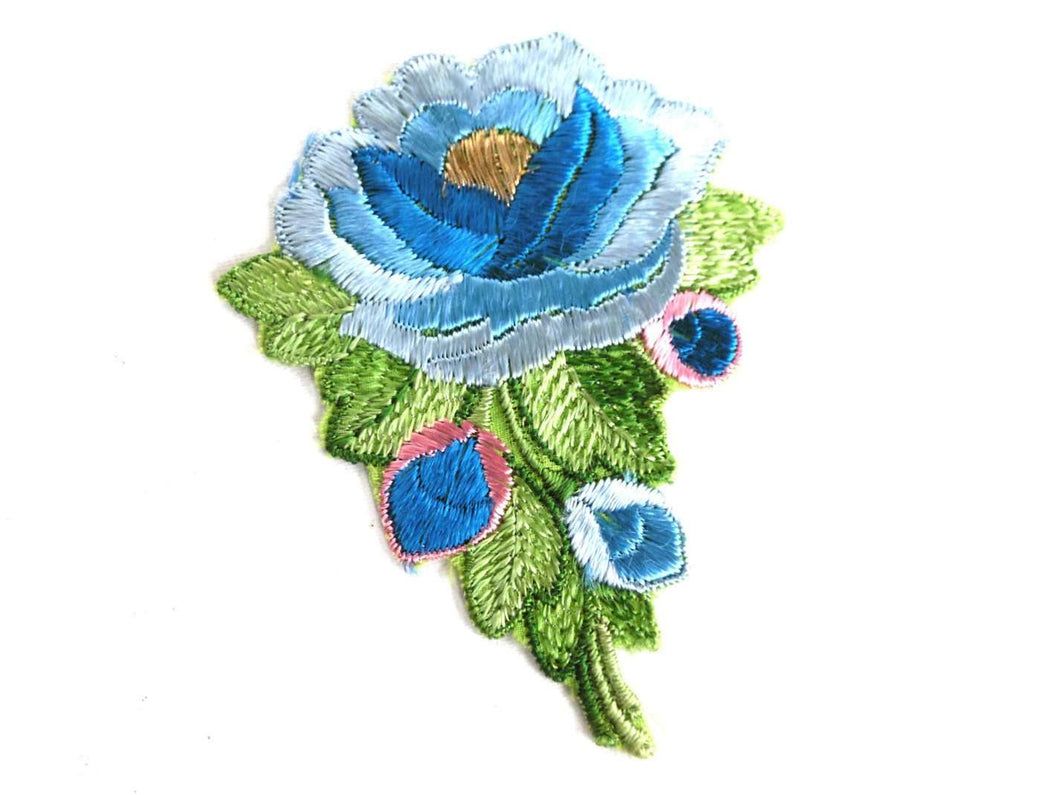 UpperDutch:Sewing Supplies,Flower applique, 1930s vintage embroidered applique. Vintage floral patch, sewing supply, Antique Silk Applique.