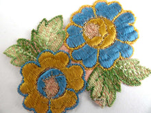 UpperDutch:Sewing Supplies,1930s Flower applique, Vintage embroidered applique. Vintage floral patch, sewing supply.