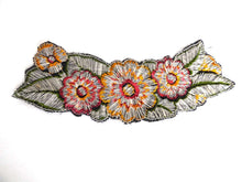UpperDutch:Sewing Supplies,Antique Applique, 1930s floral embroidered applique, trim. Vintage patch, sewing supply.