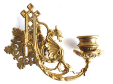 UpperDutch:Candelabras,Wall Sconce Griffin / Piano Candle holders / Pair Antique Solid Brass Victorian Griffin Piano Candelabra / piano candle holder.