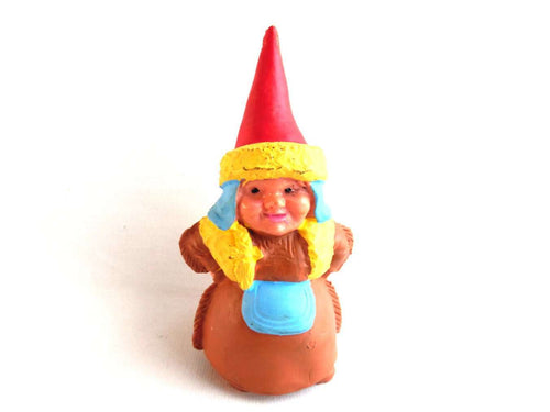 UpperDutch:Gnomes,1 (ONE) Gnome figurine, Gnome after a design by Rien Poortvliet, Brb Gnome, Gnome.