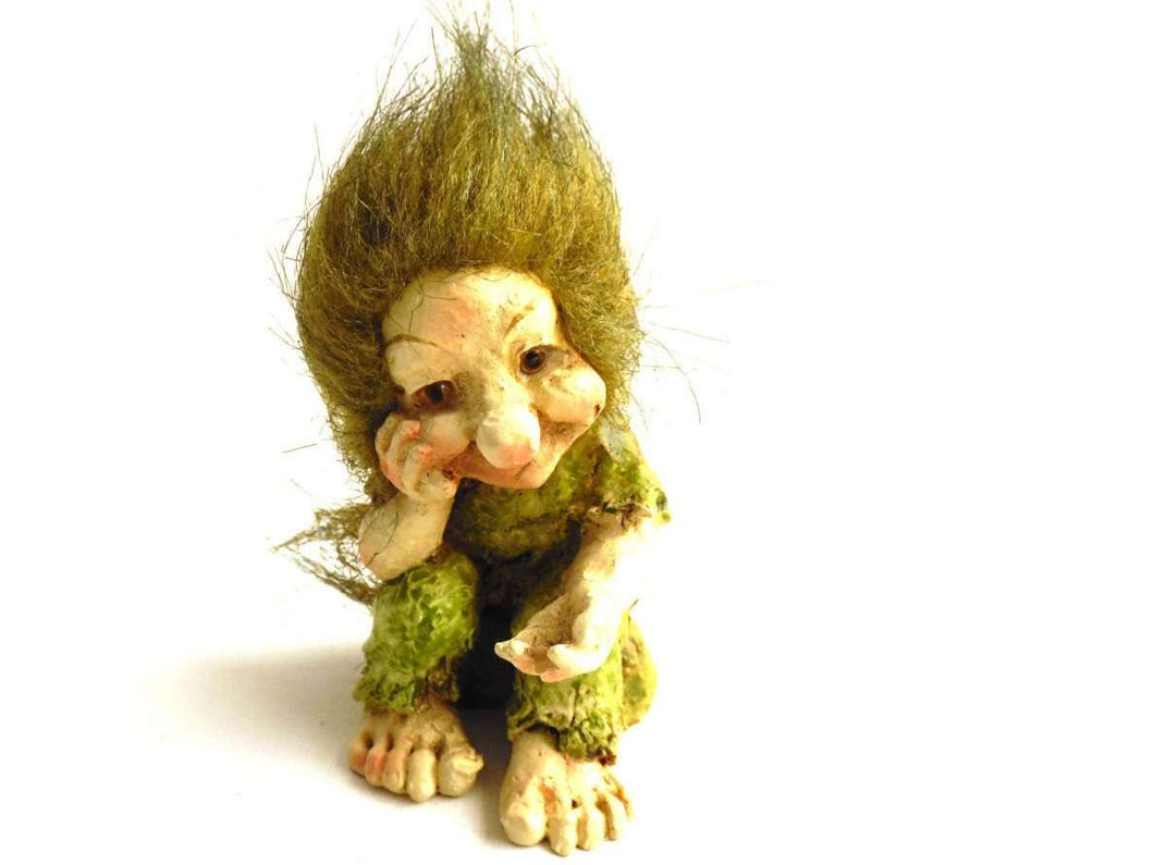 UpperDutch:Land of Magiful,Troll, Vintage small Troll. (Goblin, Gremlin, Hob, Imp, Gnome, Hobgoblin, Elf, Pixy)