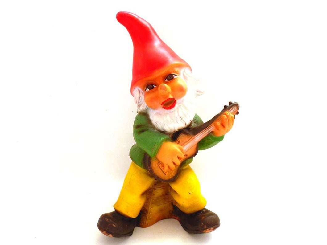 UpperDutch:Gnomes,Garden Gnome, ZEHO Gnome, Made in Germany, PVC Garden Gnome, Gnome with Gitar.