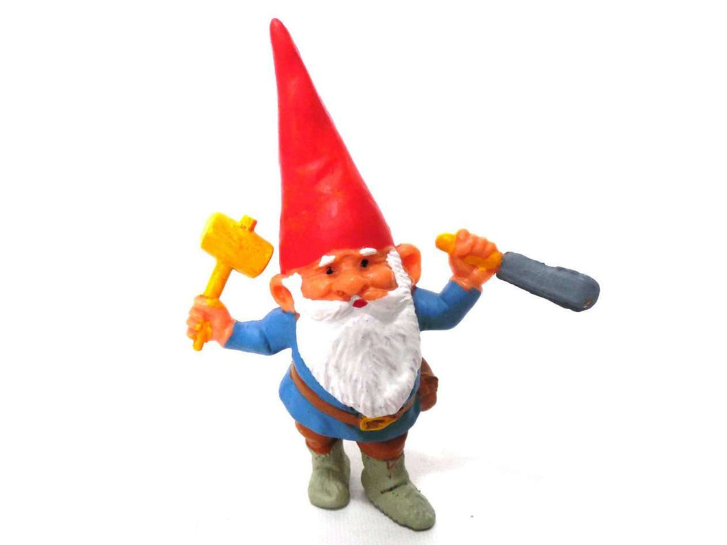 UpperDutch:Gnomes,1 (ONE) Gnome figurine, Gnome after a design by Rien Poortvliet, Brb Gnome, David the Gnome.
