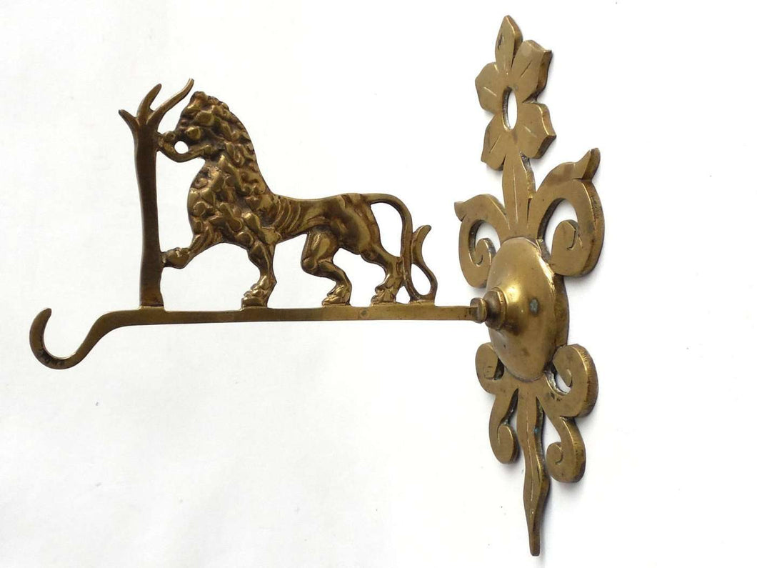 UpperDutch:Home and Decor,Wall Hook, Coat Hook, Large Vintage Lion wall hook, Large Wall hook, Brass Wall Hook.