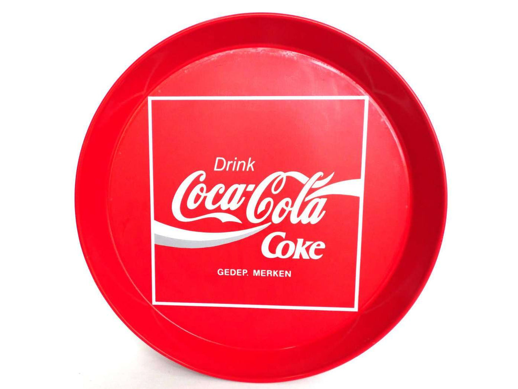 UpperDutch:,Coca Cola Tray, Coca Cola Coke. Metal Tray, Coca Cola Collectible, Coca Cola, red retro kitchen, 80's, Coca Cola is it! .