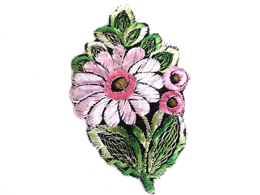 UpperDutch:Sewing Supplies,Flower Patch - Applique, 1930s vintage embroidered applique. Vintage floral patch, sewing supply.