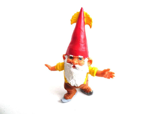 UpperDutch:Gnomes,1 (ONE) Gnome figurine, Gnome after a design by Rien Poortvliet, Brb Gnome ice skating,  Gnome.