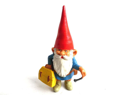 UpperDutch:Gnomes,1 (ONE) Doctor Gnome figurine, miniature Gnome after a design by Rien Poortvliet, Brb Gnome, David the Gnome, Doctor.