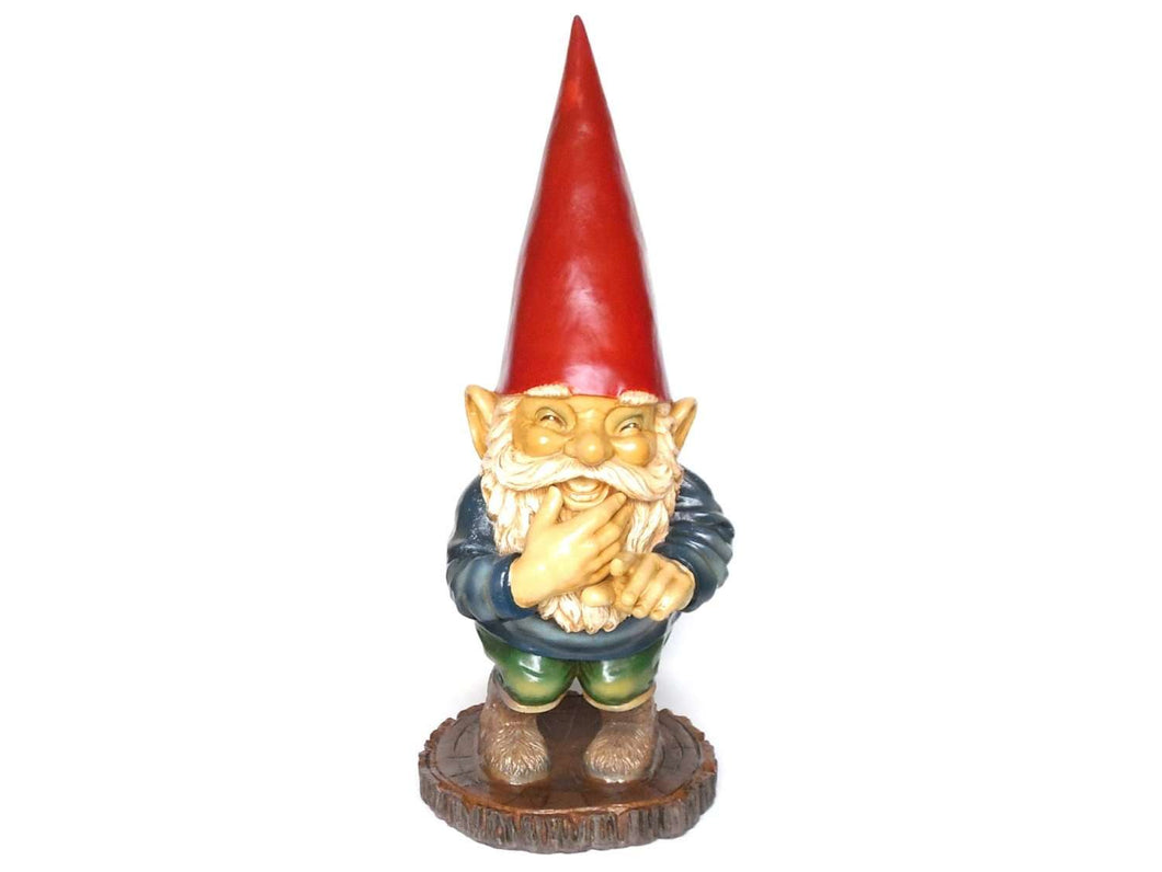 UpperDutch:Gnomes,30 INCH Garden gnome, Gnome Laughing after a design by Rien Poortvliet, David the Gnome, Childrens decor, el Gnomo. Gift.