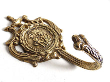 UpperDutch:Hooks and Hardware,Victorian Style Coat hook, Solid Brass Ornate Wall hook.
