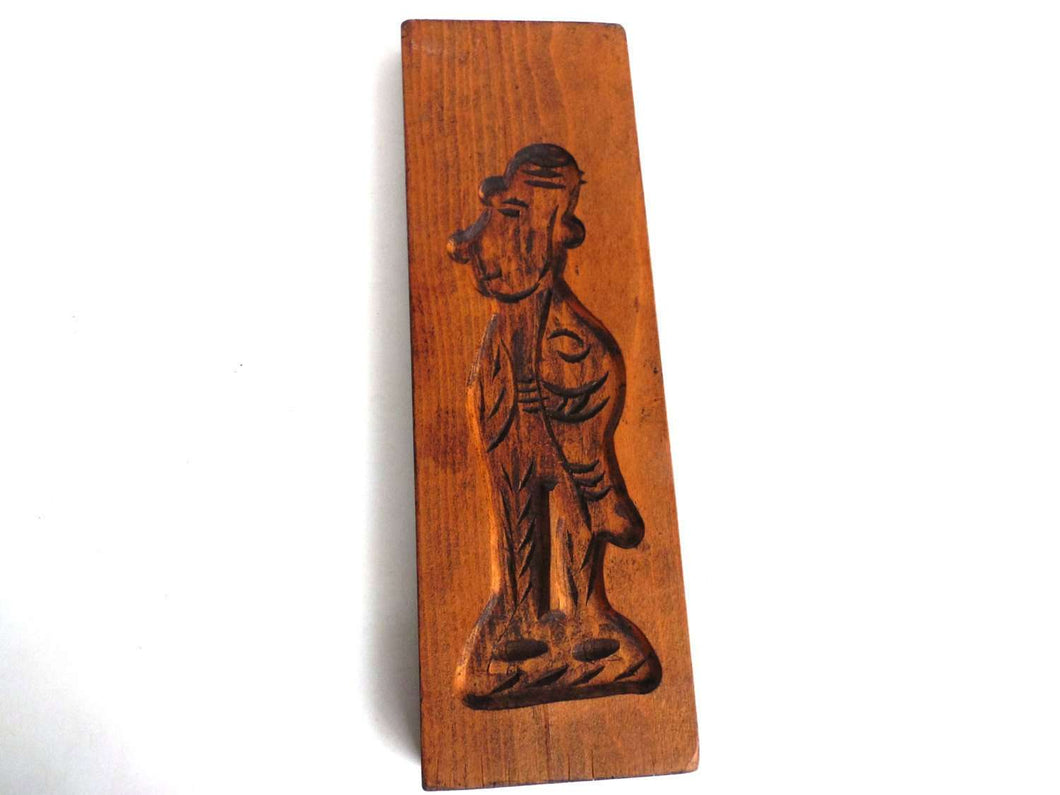 UpperDutch:Cookie Mold,Wooden cookie mold. Wooden Dutch Folk Art Cookie Mold. speculaas plank, springerle.