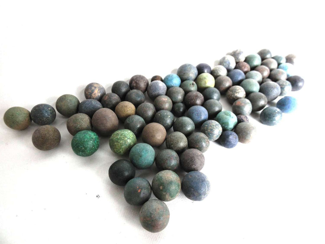 UpperDutch:Marbles,Marbles, Set of 75 Antique Clay Marbles, Antique marbles.