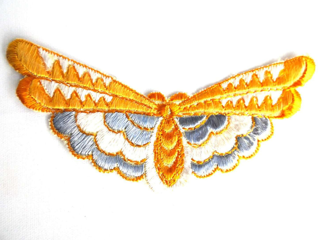 UpperDutch:Sewing Supplies,Butterfly applique, 1930s vintage embroidered applique. Vintage patch, sewing supply. antique Applique, Crazy quilt.