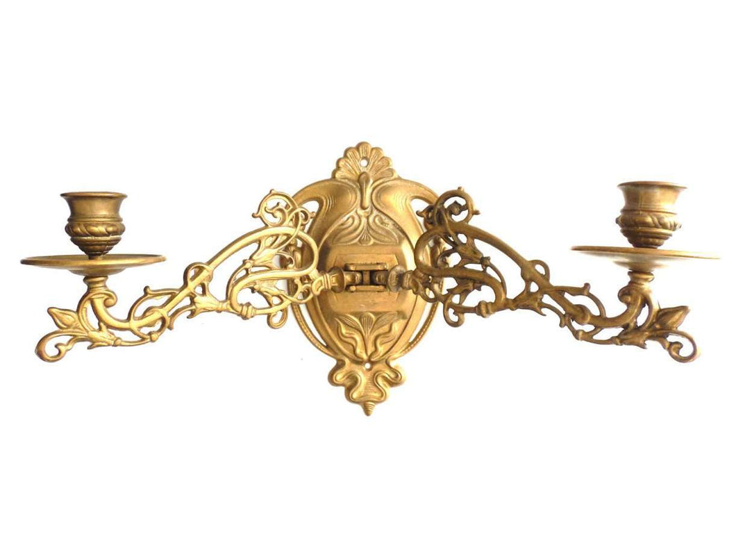 UpperDutch:Candelabras,Candle Holder, Wall Sconce Antique Solid Brass Victorian Piano Candelabra, piano candle holder, candle wall sconce.