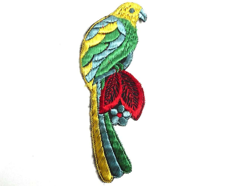 UpperDutch:Sewing Supplies,Bird Applique 1930s Vintage Embroidered Bird  applique / application / patch. Vintage patch, sewing supply, antique applique.