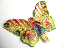 UpperDutch:Sewing Supplies,Fairy Applique butterfly applique, 1930s vintage embroidered applique. Vintage patch, sewing supply.