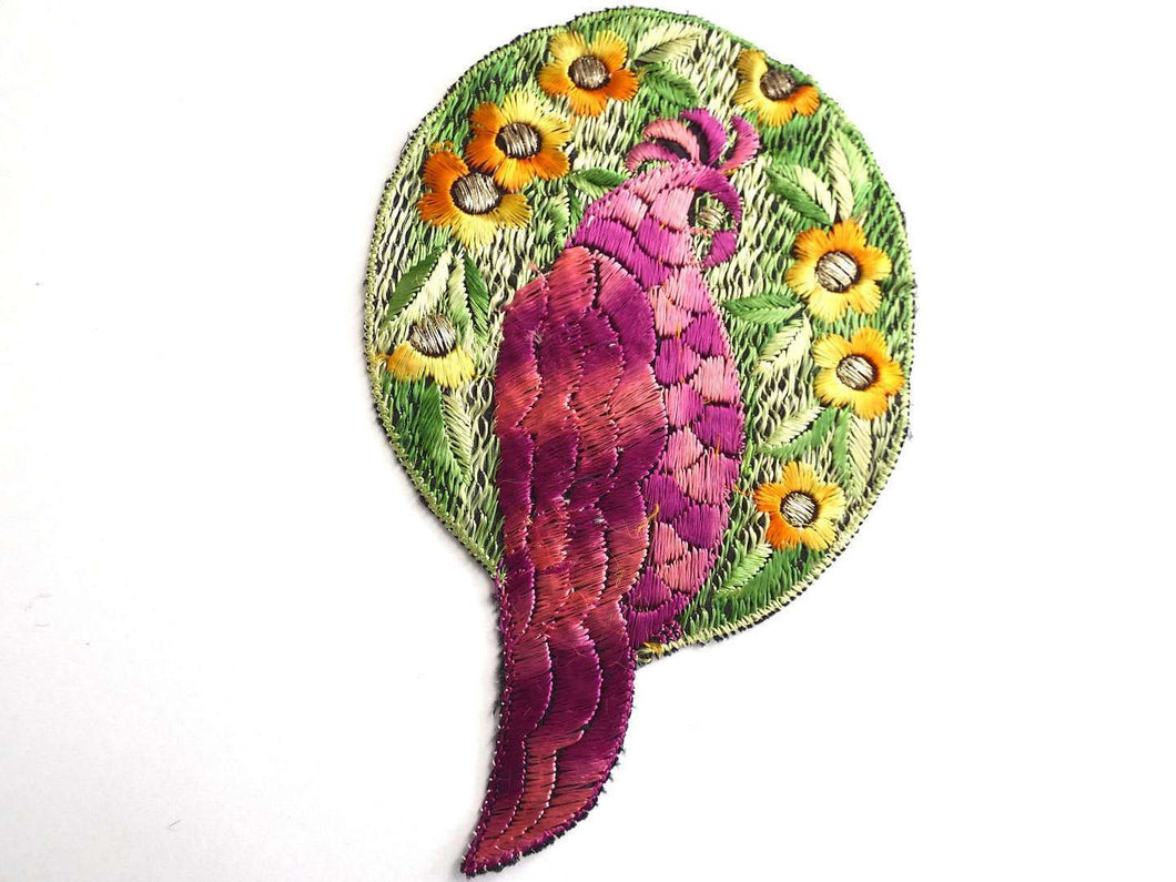 UpperDutch:Sewing Supplies,Bird Applique  1930s Vintage Embroidered Bird  applique, patch. Vintage patch, sewing supply.