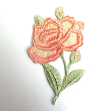 UpperDutch:Sewing Supplies,Antique Flower Applique, 1930s  embroidered applique. Vintage floral patch, sewing supply.