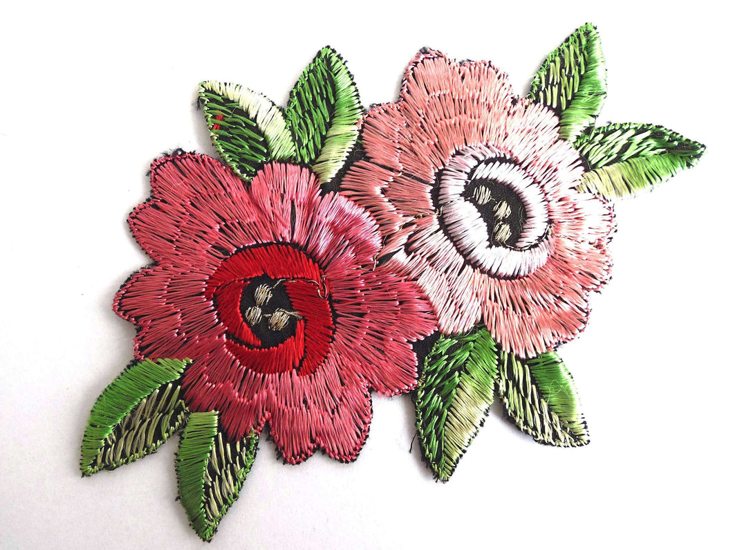 Christmas flower applique machine embroidery design digitized pattern