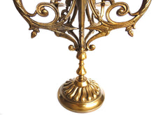 UpperDutch:Candelabras,Candle holder Heavy Solid Brass 6 arm Candelabra.