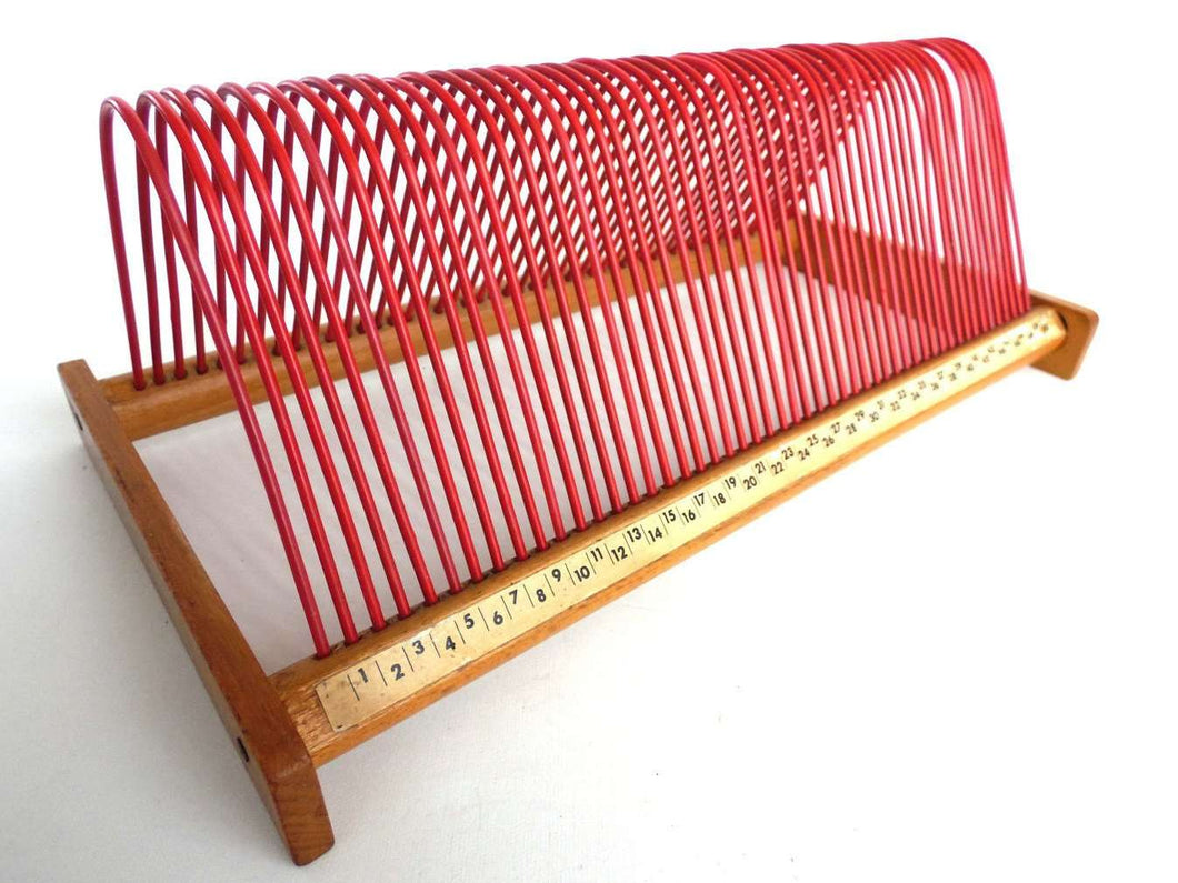 UpperDutch:Record Holder,Red record storage rack, stand for 7