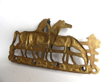 UpperDutch:Home and Decor,Stunning Equestrian Key Rack, Horses, Antique Brass key rack with Horses. Wall rack, Key Holder.