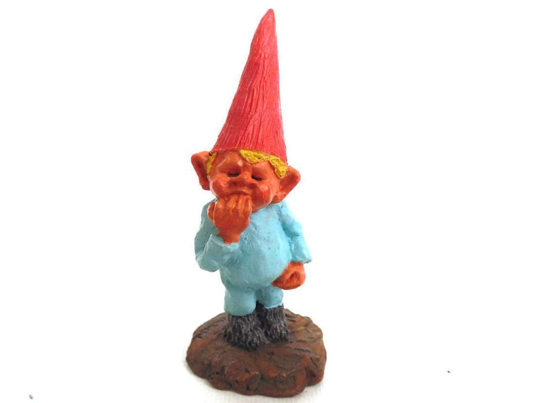 UpperDutch:Gnomes,Miniature Gnome figurine, Lukas, Klaus Wickl 1993, Enesco, Rien Poortvliet, Miniature collectible gnomes.