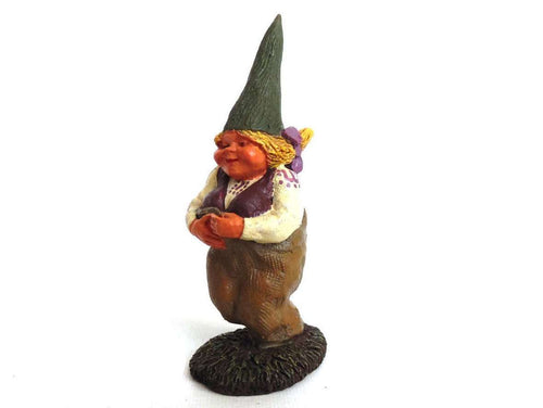 UpperDutch:Gnomes,Gnome figurine, Mimi, Klaus Wickl 1993, Enesco, Rien Poortvliet, Miniature collectible gnomes.