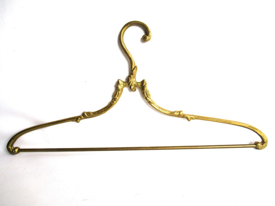 UpperDutch:Bride Hanger,1 (one) Brass Clothes Hanger, Clothes Hangers, Antique French Coat hanger, Wedding dress.