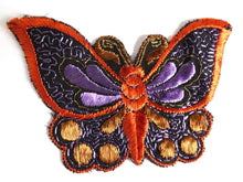 UpperDutch:Sewing Supplies,Butterfly Patch, 1930s vintage embroidered applique. Vintage patch, sewing supply. Applique, Crazy quilt.