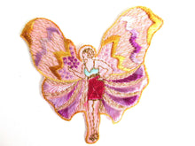 UpperDutch:Sewing Supplies,Fairy Applique, butterfly applique, 1930s vintage embroidered applique. Vintage patch, sewing supply.