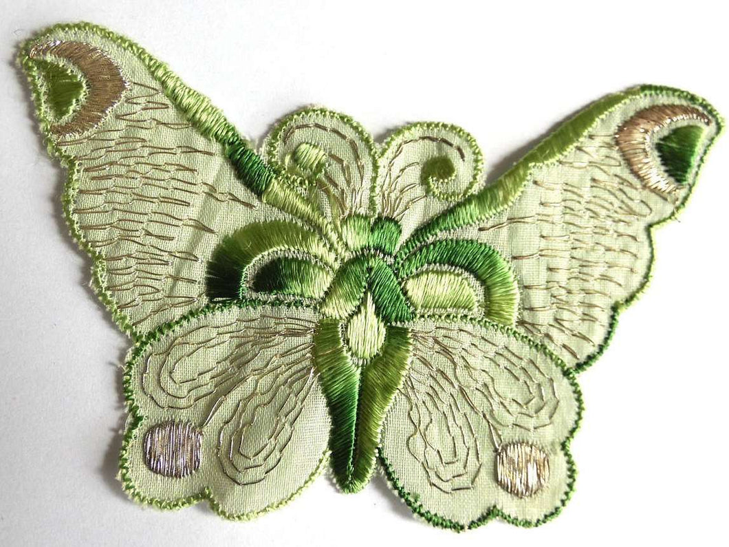 UpperDutch:Sewing Supplies,Applique 1930s vintage embroidered butterfly applique. Vintage patch, sewing supply. Applique, Crazy quilt.