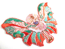 UpperDutch:Sewing Supplies,Applique fairy, butterfly applique, 1930s vintage embroidered applique. Vintage patch, sewing supply.
