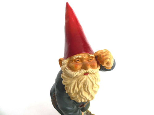 UpperDutch:Gnomes,Gnome figurine 9 INCH Gnome after a design by Rien Poortvliet, David the Gnome.
