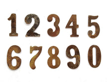 UpperDutch:Numbers,ONE Antique One, Number 1, Authentic Shabby Brass Number one. Room number / Table number
