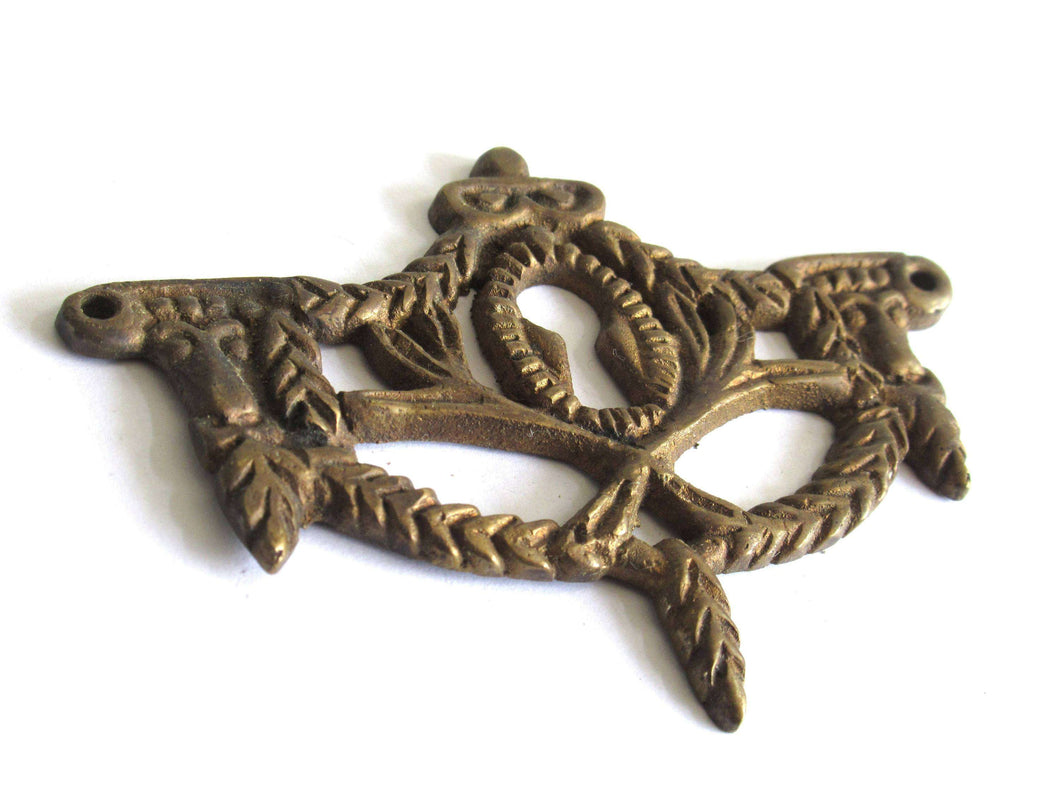 UpperDutch:Hooks and Hardware,Solid Brass Antique Keyhole cover / Antique Victorian style Key Hole Frames / Escutcheon
