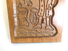 UpperDutch:,Cookie Mold, Wooden cookie mold. Wooden Dutch Folk Art Cookie Mold, springerle.