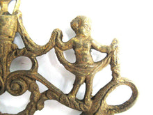 UpperDutch:,Detailed Furniture Drawer Pull. An Antique Brass Drawer Handle. Empire embellishment. Authentic 1800's restoration hardware