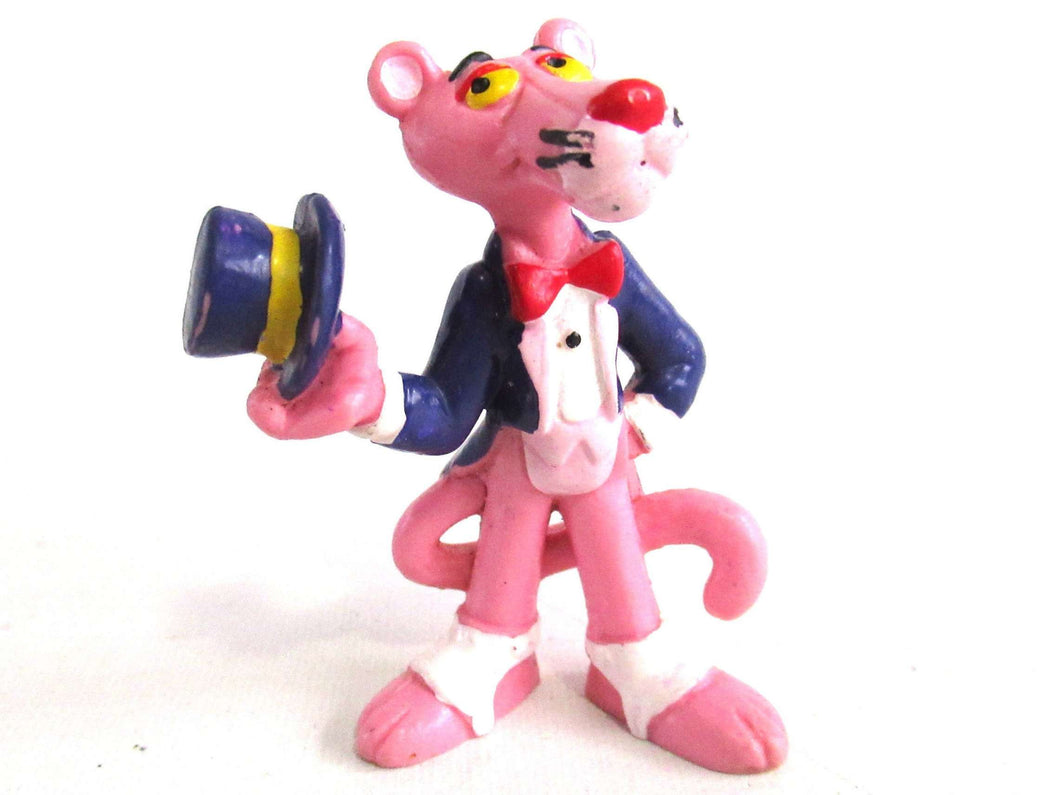 UpperDutch:,Pink Panther in Tuxedo Pvc Figurine Bully 1983 United Artists West Germany.