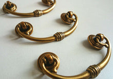 UpperDutch:Hooks and Hardware,ONE Brass Vintage Drawer Pull / Hanging Drawer Drop Handle